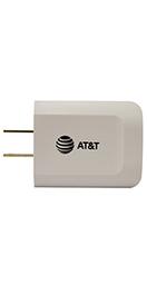 Cargador AT&T Blanco de Pared con Dos Entradas USB
