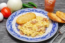Huevos Revueltos con Tocino