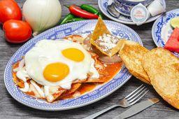 Chilaquiles Sanborns con Huevo