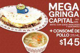Mega Gringa Capital + Consome de Pollo