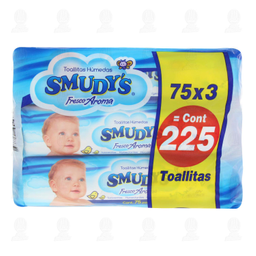 Pack Toallitas para Bebé Smudy's Fresco Aroma 3 U