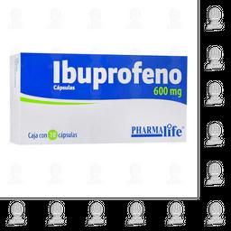 Ibuprofeno 600mg Pharmalife 10 Cápsulas