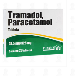 Tramadol / Paracetamol 37.5mg/325mg Pharmalife 20 Tabletas