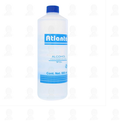 Alcohol Atlanta Etílico 70° Azul  500 mL