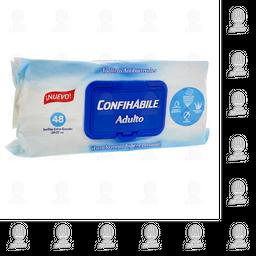 Toallas Antibacteriales Confihábile para Adulto 48 U