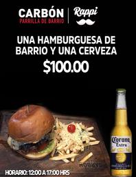 Combo Hamburguesa de Barrio
