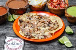 Taco de Bistec con Tocino y Queso