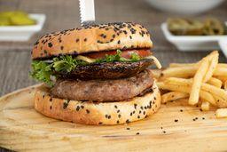 Hamburguesa Portobello con Carne