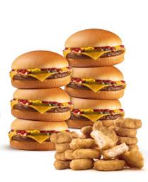 6 Hamburguesas con Queso y 20 McNuggets