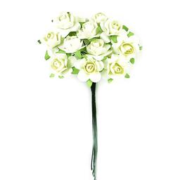 Ramito X12 Flores de Papel 10 cm Crema