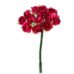 Ramito X12 Flores de Papel 10 cm Rojo