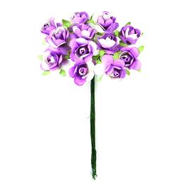 Ramito X12 Flores de Papel 10 cm Lavanda