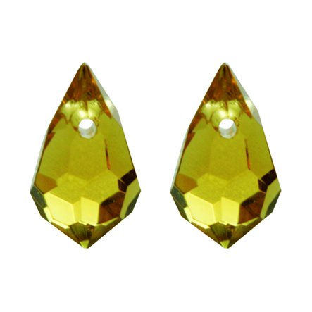 Gota Cristal Color 7x11 mm 100 U Amarillo