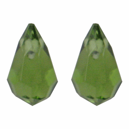 Gota Cristal Color 7x11 mm 100 U Verde