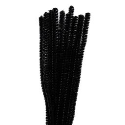 Chenille Natural Pp 9000 30 cm 12 U Negro