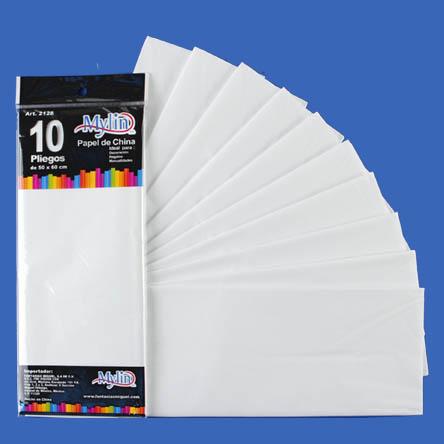Papel China 50x66 cm 10 U Blanco