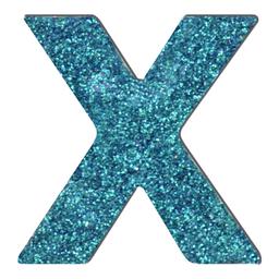 Letras Mayúsculas Con Diamantina 6.3 cm X Turquesa