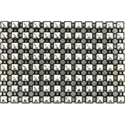 Galón Cuadro Imitación 8 Hileras 5 mm 9m Negro/Plata