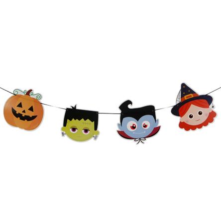 Guía Banderin Halloween x12 16 cm 3m Multi