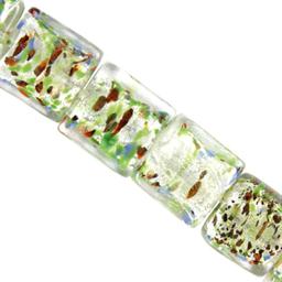 Cuenta Centro Plata Cubo 20 mm Hilo 15 cm (aprox 6 U) Cristal