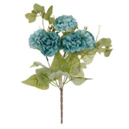 Planta Con Hortensia Fina x5 33 cm Turquesa