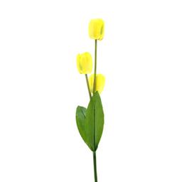 Flor Tallo Tulipan, 3 Flores 96 cm Amarillo