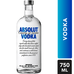 Vodka Absolut Vodka Botella 750 mL