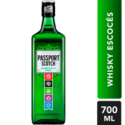 Whiskey Passport Scotch Botella 700 mL