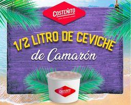 Ceviche de Camarón 1/2 Litro