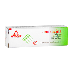 Amikacina Inyectable 2 Suspension (500 mg/2mL)