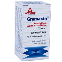 Gramaxin 10 Tabletas (500 mg/125 mg)