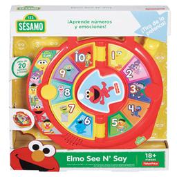 Juguete Didáctico Fisher-Price Sésamo Elmo See 'N Say 1 U