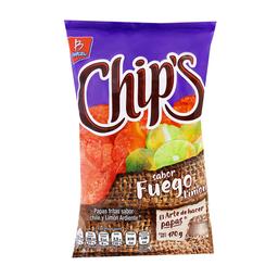 Chips Botana Papas Fuego Limón