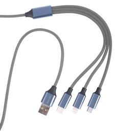 Cable 3En1Micro/Typec/Lightningplat 1 U