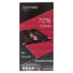 Symmetry Chocolate Amargo 72% 100 g