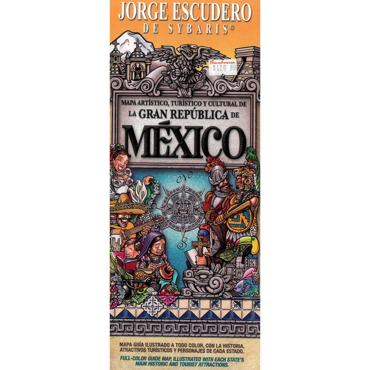 Mapa Artístico de La Republica Mexicana 1 U
