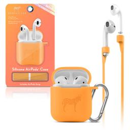 Funda Silicon Airpods Naranja Neon