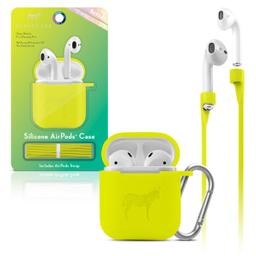 Funda Silicon Airpods Verde Amarillento Neon