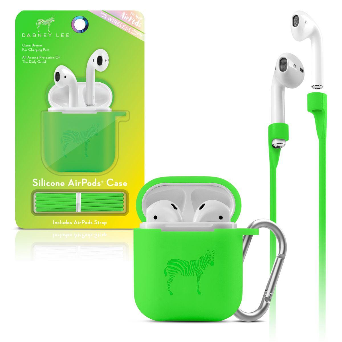 Funda Silicon Airpods Verde Neon