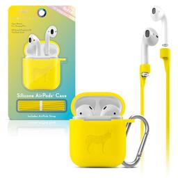 Funda Silicon Airpods Amarillo Neon