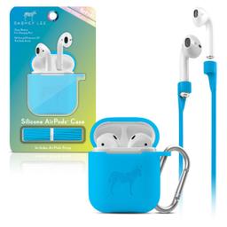 Funda Silicon Airpods Azul Neon 1 U