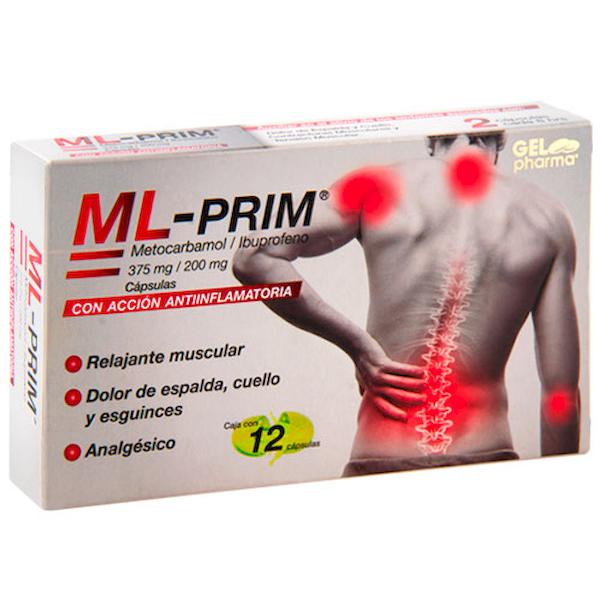 Comprar Ml-Prim Metocarbamol/Ibupro 375/ 200 Mg