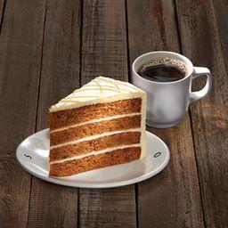 Café americano 355 ml  + Rebanada Big Chocolate Cake