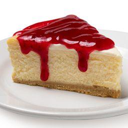 Cheesecake con Mermelada de Fresa