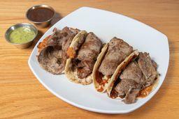 Tacos de Ribeye con Queso