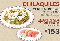 Chilaquiles + Fruta