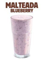 Malteada Blueberry Plátano