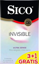 Preservativos Sico 3+1 Invisible Ultra S 1 U