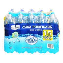 Agua Purificada Member's Mark 1.5 L x 15