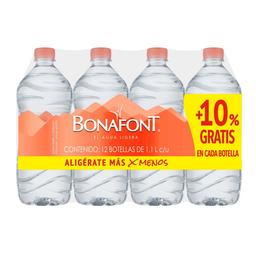 Agua Bonafont Natural 1 L x 12